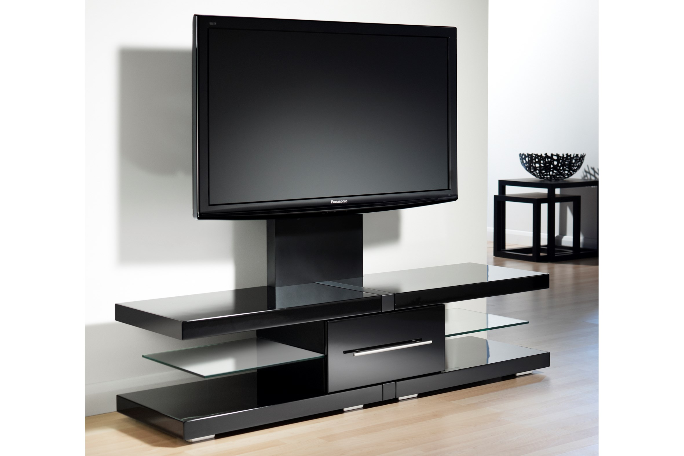Techlink Echo 51 Wide Modern Tv Stand With Mount   Ec130tvb   The