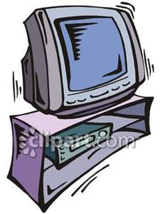 Television And Stand   Royalty Free Clipart Picture