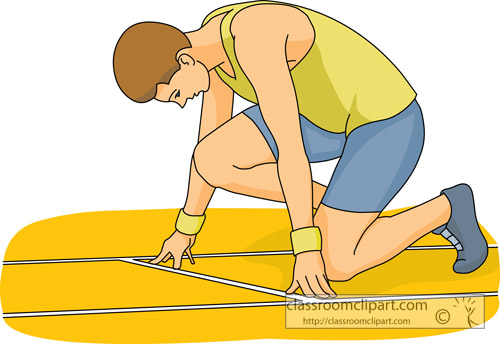 Track And Field Clipart   Starting Track Race Sports 01   Classroom