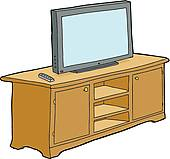 Tv Cabinet Clipart Royalty Free  125 Tv Cabinet Clip Art Vector Eps