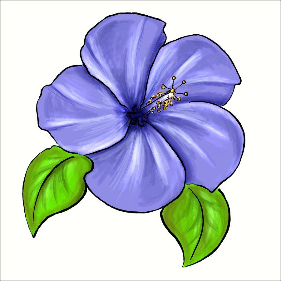 Violet Flower Clipart - Clipart Suggest