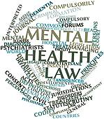 Word Cloud For Mental Health Law   Stock Illustration