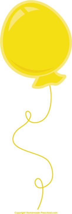 clipart yellow balloons - photo #42