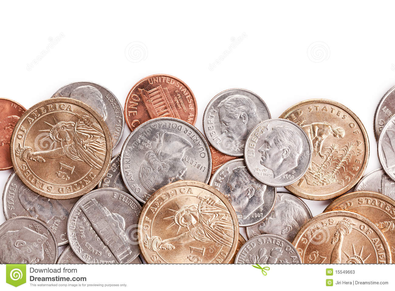 American Coins Background Stock Photos   Image  15549663