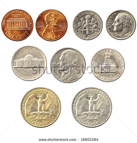 American Coins Clipart Us Coin Collection   Stock