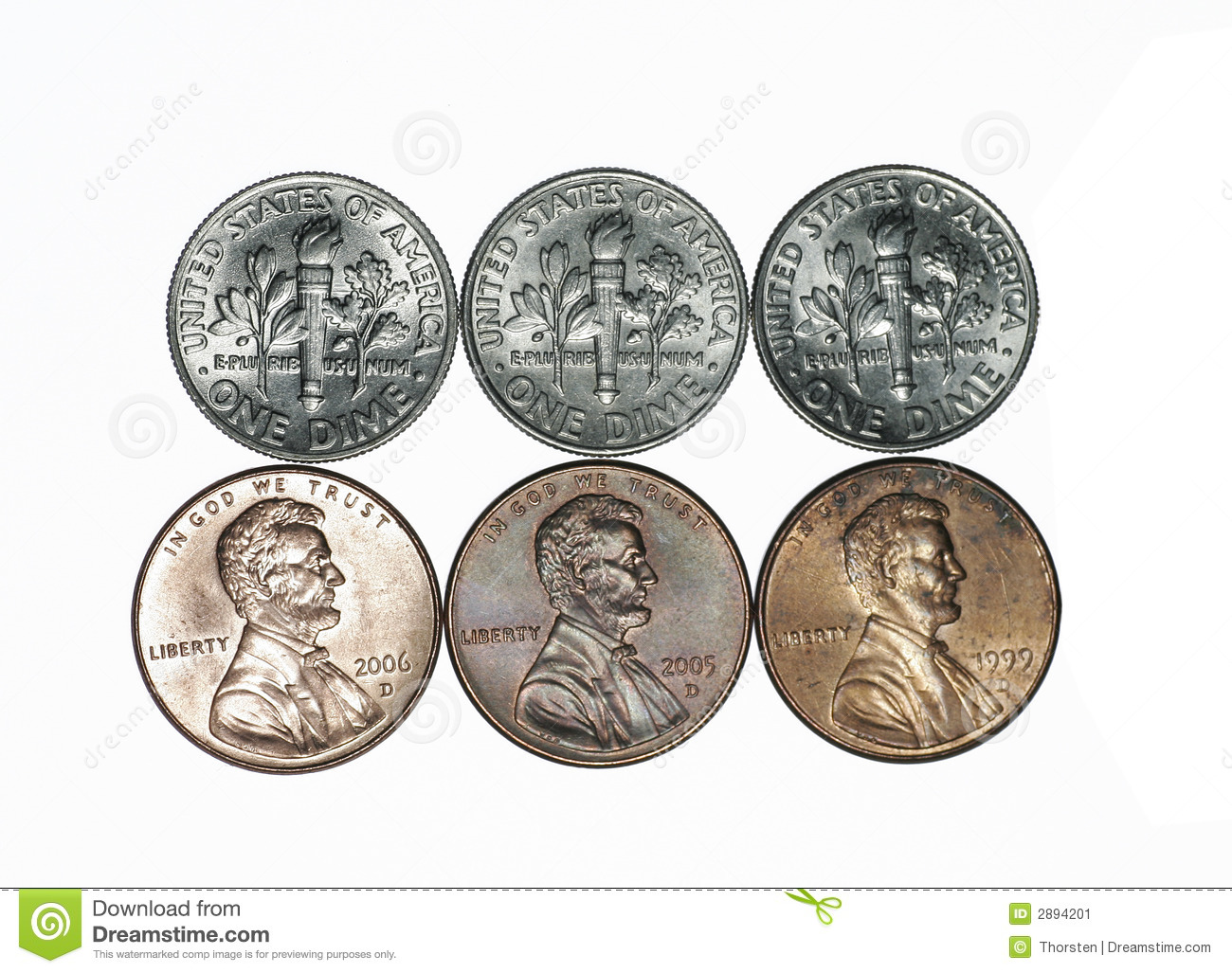 American Coins Stock Image   Image  2894201