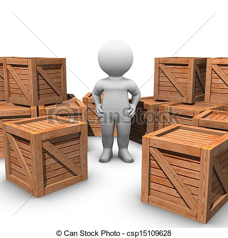 Bobby Just Moved Into His New Home    Csp15109628   Search Clipart