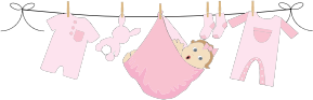 Clipart   Baby Girl Hanging On Clothesline