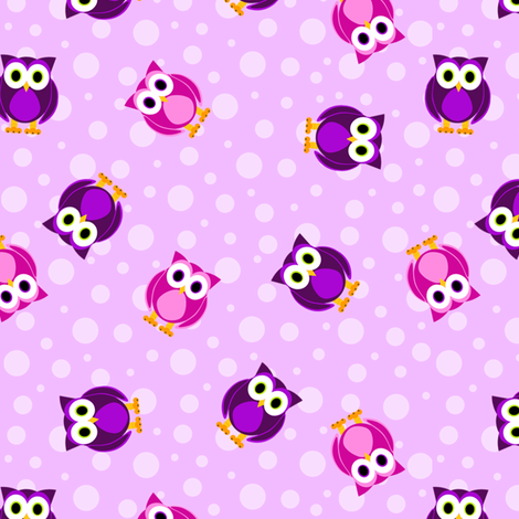 Ditsy Owl   Bubble Background Fabric By Jannasalak On Spoonflower