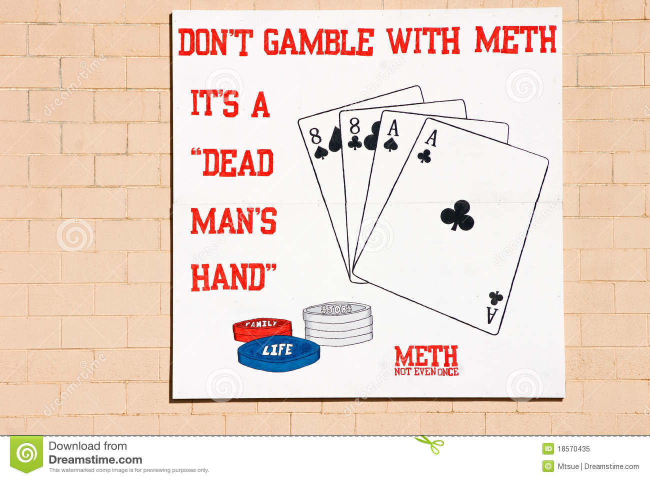 Don T Gamble With Meth Royalty Free Stock Photo   Image  18570435
