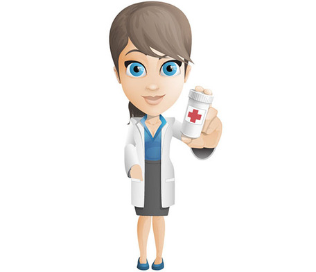 Female Doctor Vector Character Holding Pills Vector File   Clipart Me