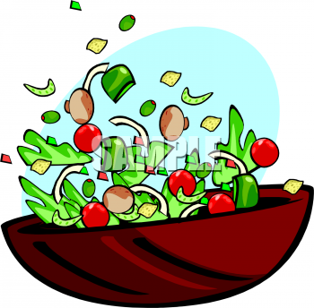 Salad Black And White Clipart - Clipart Kid