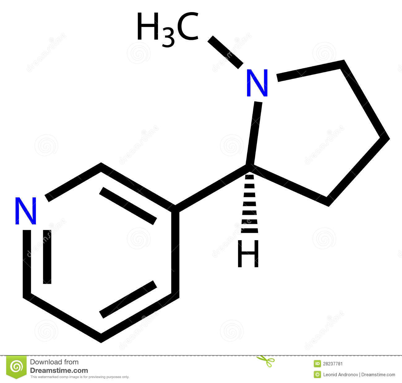 More Similar Stock Images Of   Nicotine Structural Formula