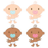 Multicultural Babies Illustration Royalty Free Stock Photos