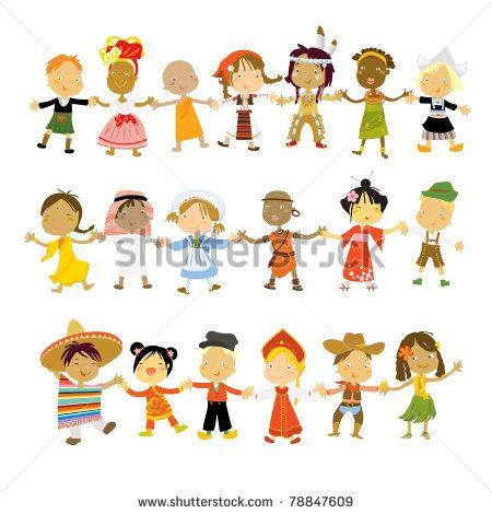 Multicultural Children Dancing Clipart Kids Multicultural Traditional