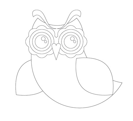 Owl Eyes Outline Http   Blog Spoongraphics Co Uk Tutorials Create An
