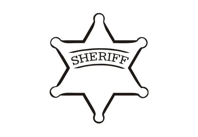 Clip Art Sheriff Badge Clipart sheriff badge clipart kid wall decal cool vinyl art for boys