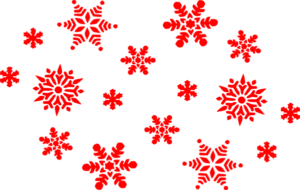 Red Snowflake Clipart - Clipart Kid
