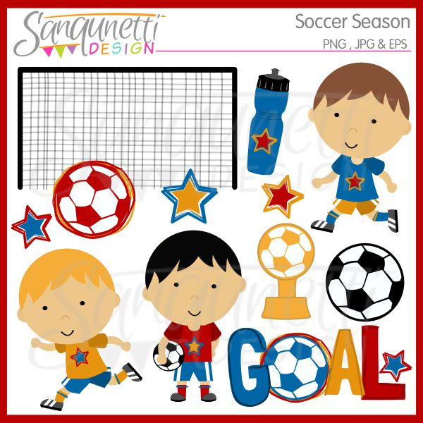 Soccer Season Clipart And Pink Poodle Single   Sanqunetti Design