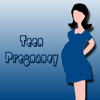 Clip Art of Teen Pregnancy Effects