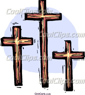 Three Crosses Clip Art