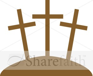 Three Crosses Graphic   Cross Clipart