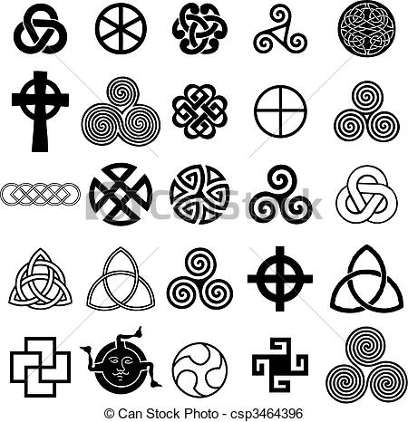 Vector   Set Of Celtic Symbols Icons Vector    Stock Illustration