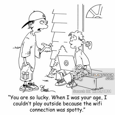 Age I Couldn T Play Outside Because The Wifi Connection Was Spotty