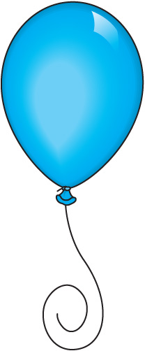 Blue Balloons Clipart - Clipart Kid
