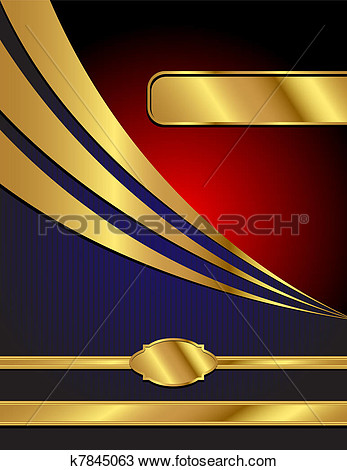 Blue Red And Gold Modern Vector Background K7845063   Search Clip Art