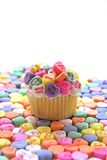 Candy Heart Cupcake Royalty Free Stock Photography