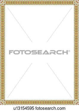 Clipart   Gold And Red Loop Border  Fotosearch   Search Clip Art