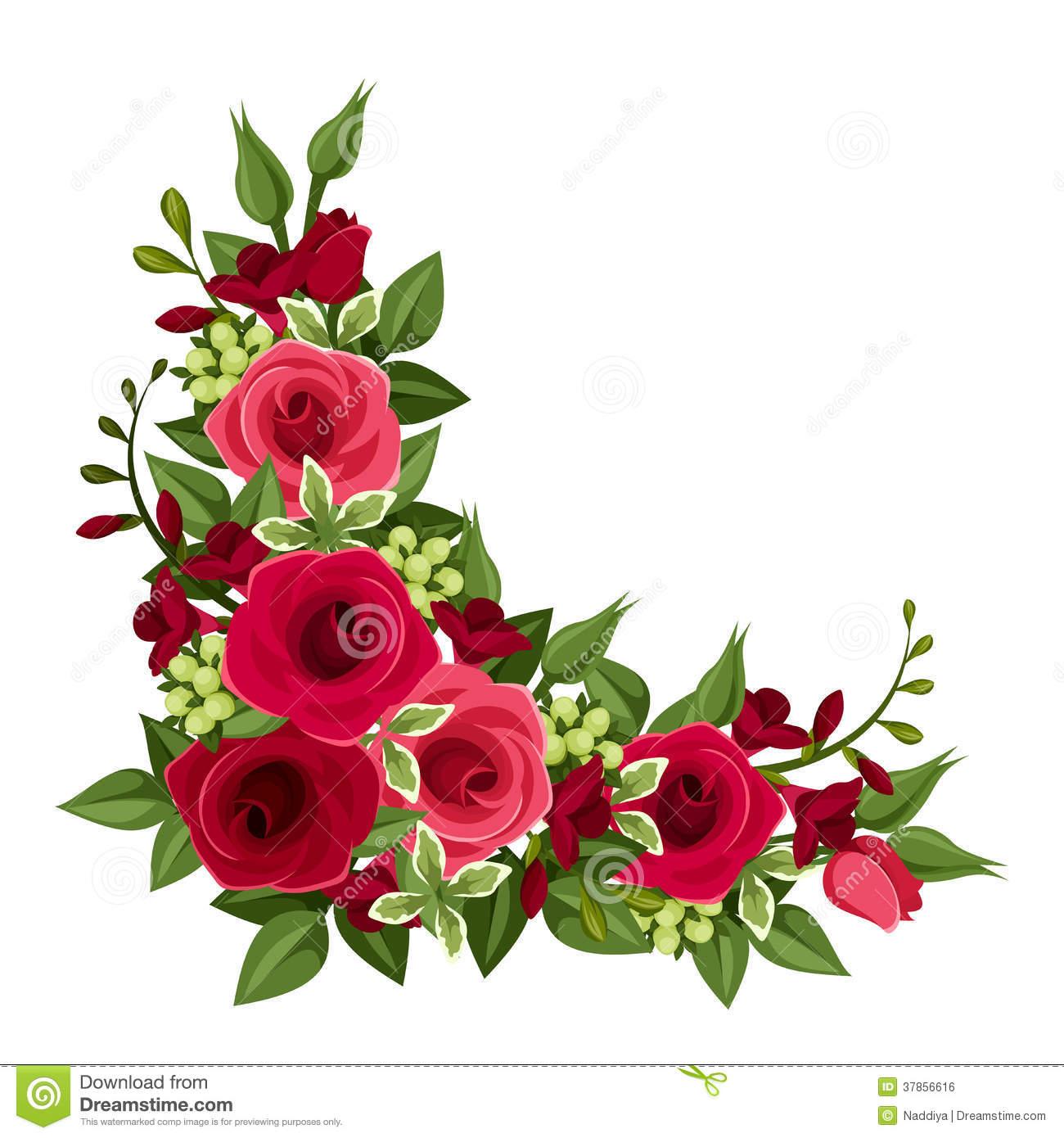 Vintage Rose Corners Clipart - Clipart Suggest