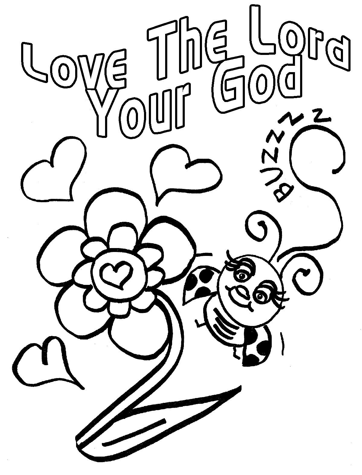 Gems In My Treasure Box  Love Bug For Jesus Coloring Pages   Clipart