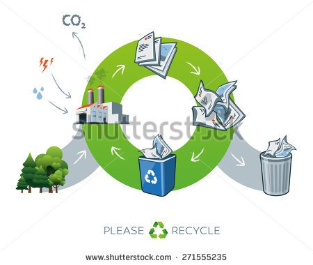 In Factory While Producing The Carbon Dioxide Waste    Stock Vector