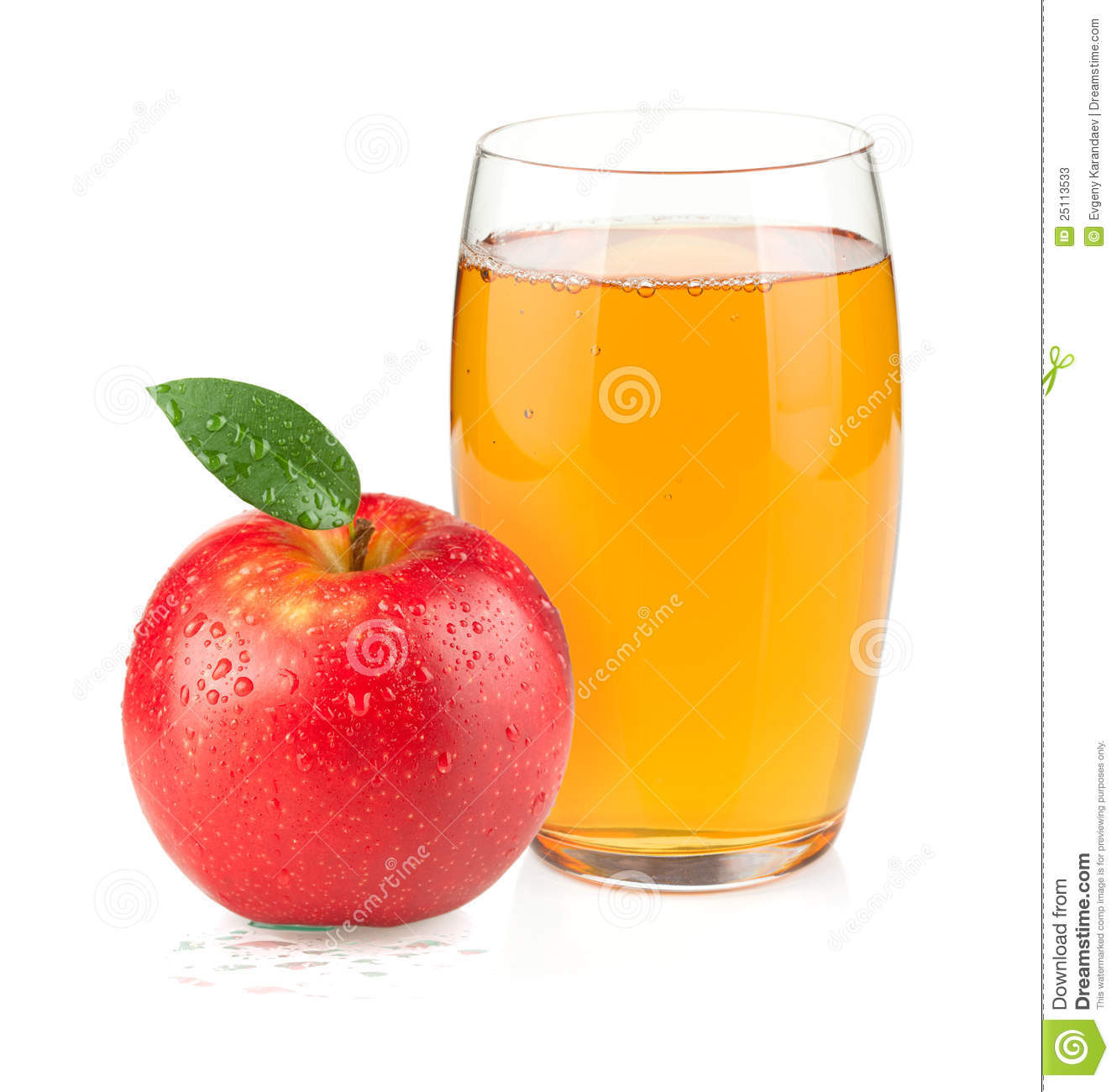 More Similar Stock Images Of   Apple Juice In A Glass And Red Apple