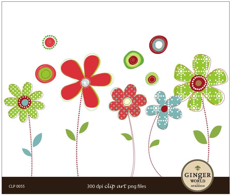 Modern Flower Clipart - Clipart Kid
