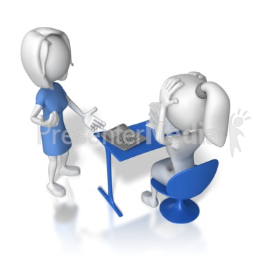 Overwhelmed At Work   3d Figures   Great Clipart For Presentations