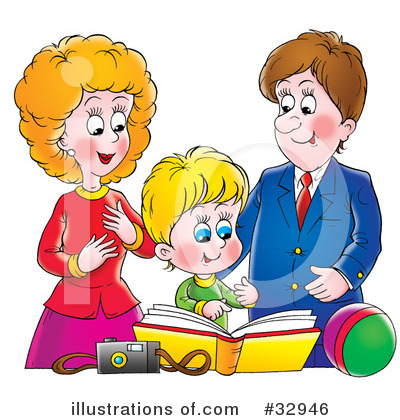 Proud Parents Clipart Clipart Illustration By
