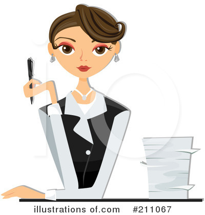 Royalty Free  Rf  Businesswoman Clipart Illustration  211067 By Bnp