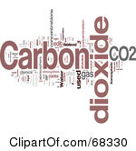 Royalty Free Rf Clipart Illustration Of A Carbon Dioxide Word Collage