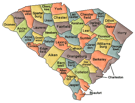 South Carolina   Http   Www Wpclipart Com Geography Us Counties South