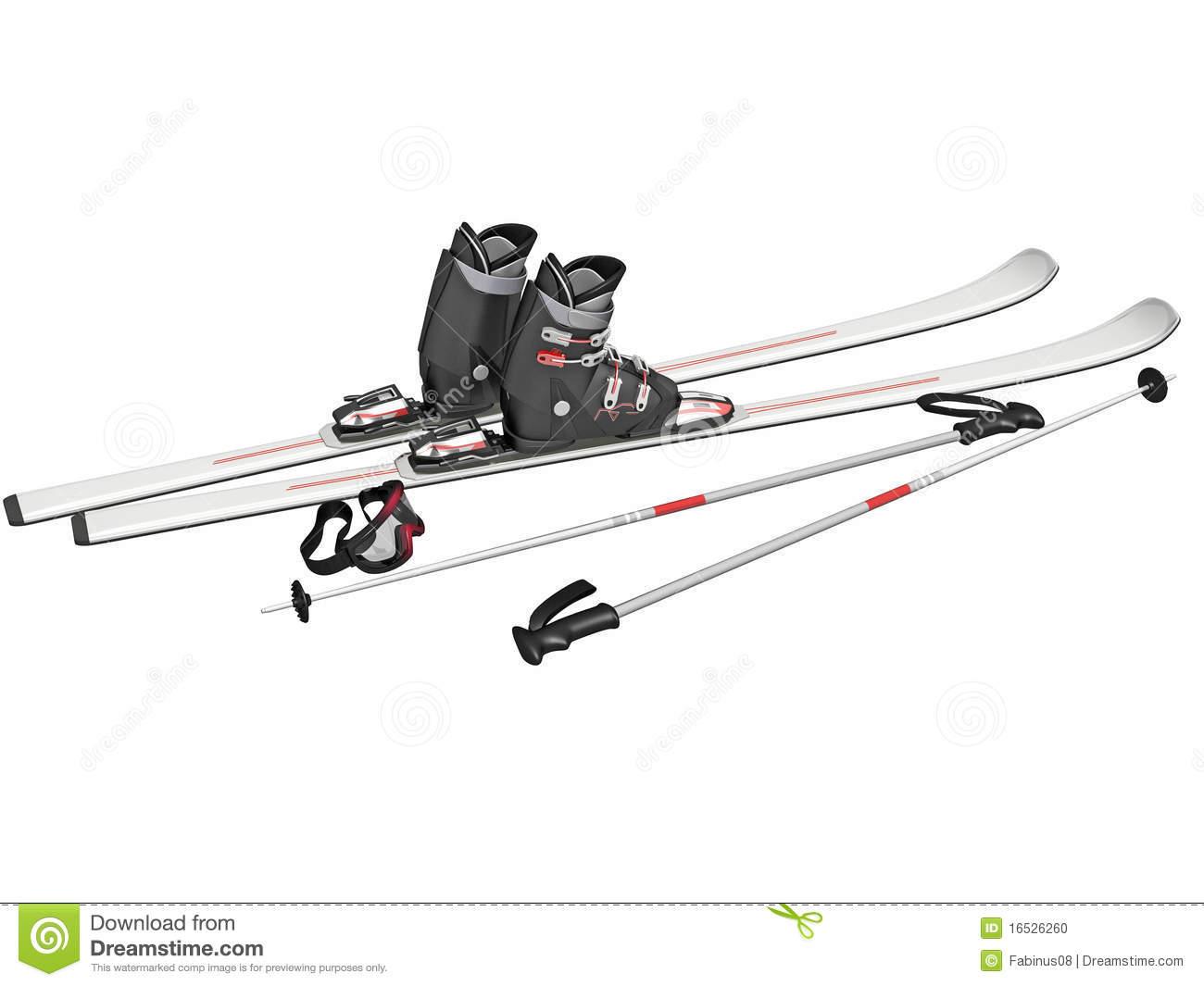 Ski Equipment Clipart