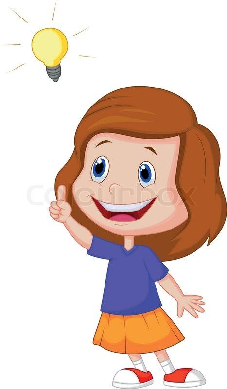 Little Girl Cartoon Clipart - Clipart Kid