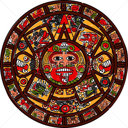 Mayan calendar clipart clipart suggest for Clipart calendario