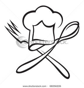Cooks Hat With Spoon And Fork Clipart - Clipart Kid
