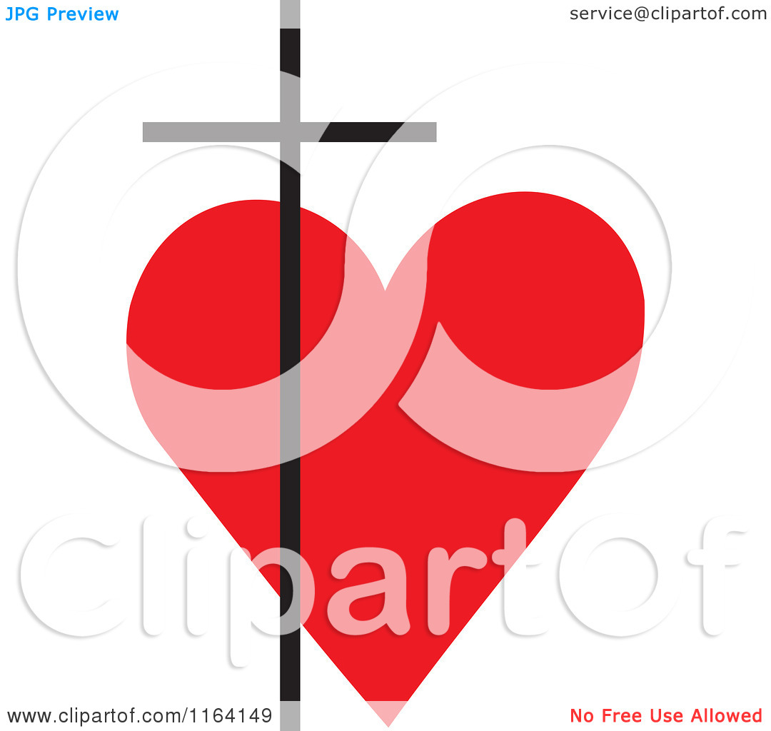 free cross and heart clipart - photo #39