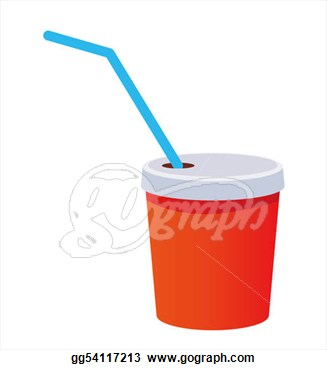 Cup With A Straw On A White Background  Clipart Drawing Gg54117213