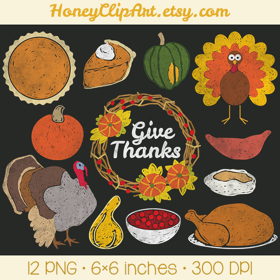 Digital Chalkboard Thanksgiving Clipart With By Honeyclipart
