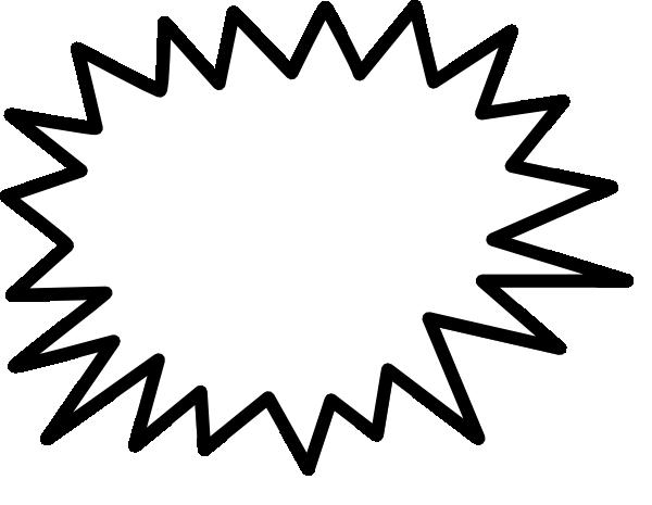 Explosion Blank Pow Clip Art At Clker Com Vector Clip Art Online
